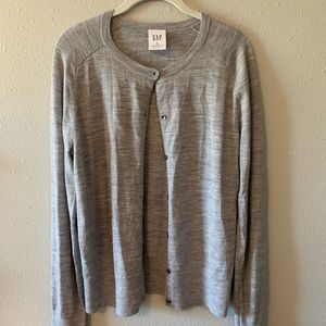 GAP MERINO WOOL CARDIGAN SIZE M TALL